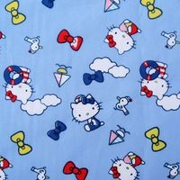 1 yard Cotton Fabric - Lovely Kitty (width=145cm) Owl Fabric, Satin Fabric, Woven Fabric, Cotton Fabric, Hello Kitty Backgrounds, Blue Backgrounds, Fabric Suppliers, Sewing Tools, Fabric Shop