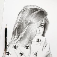 Portrait Art Time Travel - Page 16 of 40 - improveyourdrawing. L'art Du Portrait, Portrait Sketches, Pencil Portrait, Drawing Portraits, Drawing Tips, Drawing Sketches, Sketching, Realistic Pencil Drawings, Easy Drawings