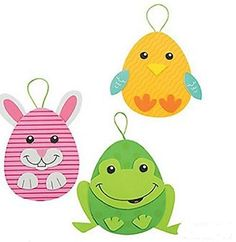 Foam Easter Egg Character Ornament Craft Kit - Makes 12 by Fun Express -- See this great product.