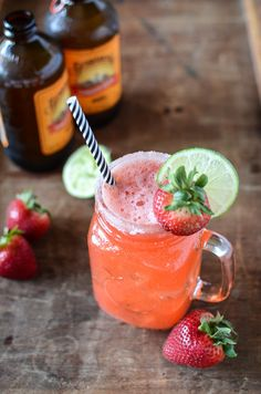 Strawberry Mocktail Mule | Moscow Mule Mocktail | ateaspoonofhappiness.com