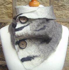 Wool Felted scarf felted scarf British wool by Beautifulfelts, £27.50