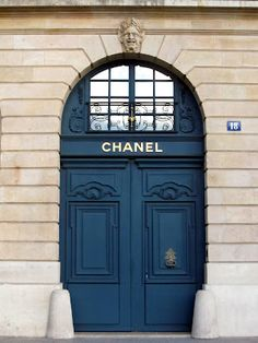 Door to Chanel at 18 Place Vendome - a Chanel fine jewelery boutique. The door faces Coco Chanel's the third floor suite that she rented at The Ritz.