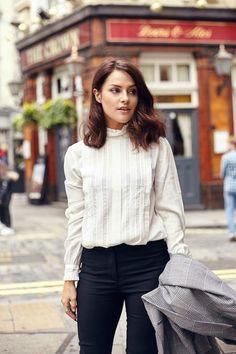 Fashion Inspiration   Victorian Blouse & Checks