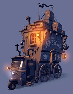 Traveling Circus vehicle outerior