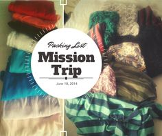 How I packed for my Mission Trip last Summer - Hello Felecia