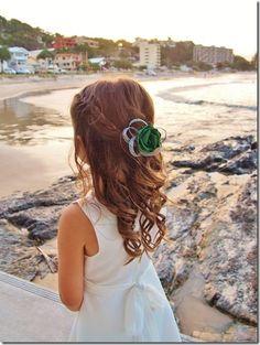 Little flower girl hairpiece   www.flaxation.co.nz