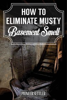 Does your homestead have a musty smell in basement? Here's how you can eliminate it. If your basement is starting to smell, I have a few DIY solutions.