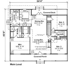 First Floor of Plan ID: 56488