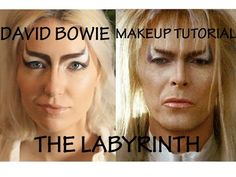 David Bowie 'The Labyrinth' Makeup Tutorial - YouTube
