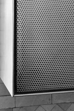 locker detail perforated metal amanda orr architects. Black Bedroom Furniture Sets. Home Design Ideas