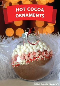 Single serving hot cocoa ornaments. Fun to make and even more fun to drink!
