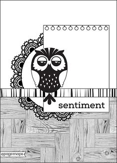want to case this with the new CTMH Lolly Doodle and the owl stamp set