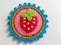 Fraise Button Crochet