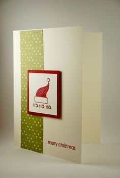 hand made christmas cards | Merry Christmas and Ho! Ho! Ho! Handmade Christmas Card | cardsbylibe ...