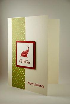 hand made christmas cards | Merry Christmas and Ho! Ho! Ho! Handmade Christmas Card | cardsbylibe ...