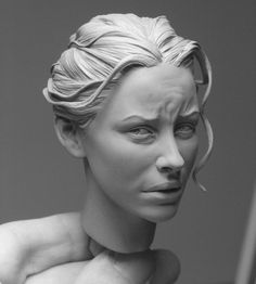 Amazing hyperrealistic portrait sculptures from Adam Beane at http://www.adambeaneindustries.com/