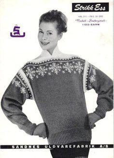 Bilderesultat for norske strikkemønstre Vintage Knitting, Hand Knitting, Knitting Designs, Knitting Patterns, Norwegian Knitting, Folk Clothing, How To Start Knitting, Knitwear Fashion, Pullover