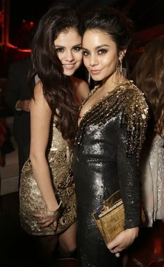 Good friends Vanessa Hudgens and Selena Gomez at the Weinstein Company after party at Beverly Hilton Hotel on 1/13/13 http://celebhotspots.com/hotspot/?hotspotid=5354&next=1