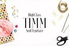 Timm Serif Typeface by CreativeWhoa on @creativemarket