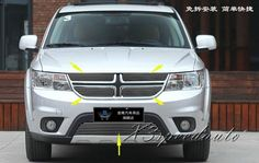 93.00$  Buy now - http://alikgu.worldwells.pw/go.php?t=32378645379 - For Dodge Journey JCUV 2013 Racing Grill Grille Front Center 5PCS Cover High Quality New Aluminum Alloy  93.00$