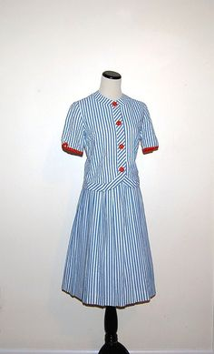 Vintage Skirt and Top 60s Stripes by CheekyVintageCloset on Etsy, $42.00