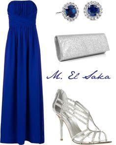"""""""Blue"""" by mohamed-el-saka ❤ liked on Polyvore"""