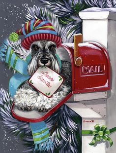 Luv My Schnauzers! Adorable!! Must find these for Christmas.