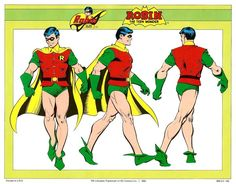 Robin by José Luis García-López from the 1982 DC Comics Style Guide