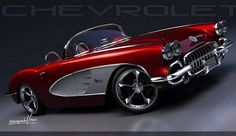 1959 Chevrolet #corvette | Hottest Muscle Machines:Classic Cars, Muscle Cars and Trucks #classiccarschevrolet