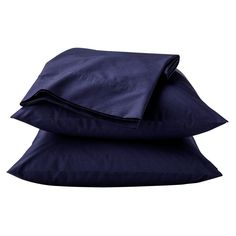 Classic Percale Sheet Set (Queen) Xavier Navy 300 Thread Count - Threshold