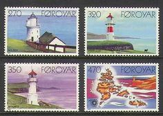Faroes 1985 Lighthouses/Maritime Safety/Map 4v (n20247)