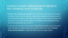 Contact canon 18004360509 | canon printer technical support