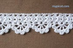 "MyPicot HOME WORK Free Pattern h008.pdf (Downloaded - SLT) Crochet patterns from ""HOME WORK"", ROSE PUBLISHING CO. (LTD.), 1881 ""Narrow Alameda Lace No. 7"""