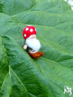 Little dworf felted wool waldorf woodland fairy by tetedelinoth