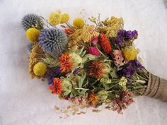 Natural Dried Wedding Bouquet, Bridal Dry Flowers, Rustic Dried Bouquet, Field Flowers, Bridesmaid Bouquet, Bouquets, Everlasting Flowers