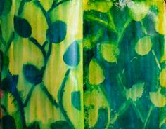 Today's post on art journal backgrounds features reverse stenciling. Only two supplies needed!