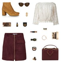 """""""Thanksgiving Outfit"""" by belenloperfido ❤ liked on Polyvore featuring Yves Saint Laurent, RED Valentino, Chanel, Cara, Linda Farrow, Richmond & Finch, Clarins, Bobbi Brown Cosmetics, Becca and Deborah Lippmann"""