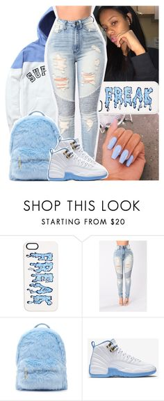 """""""S U P R E Ⓜ E"""" by daeethakidd ❤ liked on Polyvore featuring Markus Lupfer, Forever 21 and NIKE"""