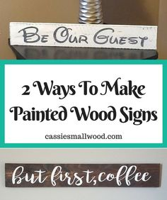 Click for the full tutorial to make your own DIY painted wood signs using your Cricut or Silhouette cutting machine. Create your own Fixer Upper farmhouse signs. Simple and minimalist home decor. Make small or large wall decor to fit your needs. Decorate your home with DIY wall art you made yourself!