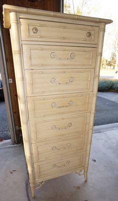 Faux Bamboo Cabinet With Hutch   Thomasville Etsy:Mae DecemberModern | Palm  Beach   Hollywood Regency   Chinoiserie | Pinterest | Bamboo Cabinets, Faux  ...