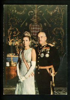 Royalty postcard Monaco Princess Grace & Prince Souverain