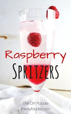 Raspberry Spritzers - perfect summer drink!