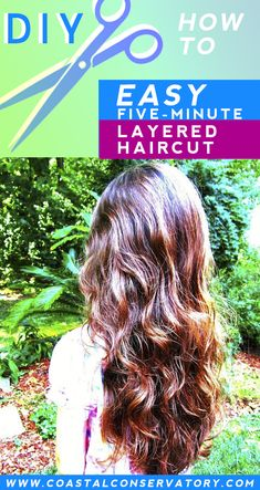 Easy Five-Minute Salon-Style Layered Haircut from Home Ponytail Haircut, Diy Haircut, Haircuts For Long Hair, Layered Haircuts, Layered Curly Hair, Hair Cutting Techniques, How To Cut Your Own Hair, Long Ponytails, Salon Style