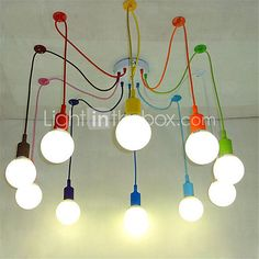 Modern Pendant Lights DIY Art Pendant Lamp Lighting Multi-color Silicone E27…