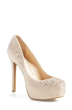 These gold studded pumps are perfect for prom.