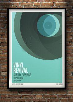 VINYL REVIVAL PRINT by Neil Stevens, via Behance