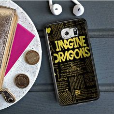 Imagine Dragons Quotes Gold Samsung Galaxy S6 Edge Case