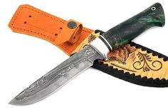 Knife Fixed Blade Hunting Damascus Steel Handmade Custom Hand