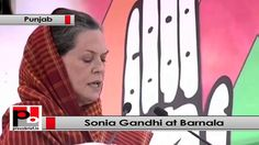 "Congress President and UPA Chairperson Sonia Gandhi visited Barnala, Punjab address election rally. While speaking to the masses she lashed out at BJP-SAD government for their bad governance. ""One side you have Congress's ideology which works for farmer, poor, dalit, tribal, women, downtrodden and every sector of the society. On the other side you BJP's and Akali Dal's ideology which supports extremism, hatred and anger. They only want to grab the power,"" said Sonia Gandhi."