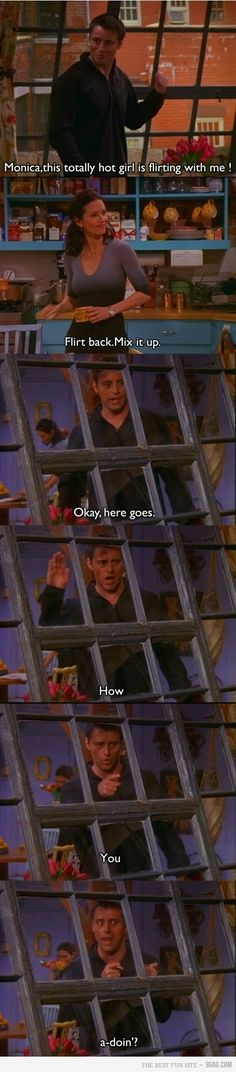 Friends: the best tv show of all time. This Friends tv show quote is so funny. Friends Tv Show, Serie Friends, Friends Episodes, Friends Moments, Friends Forever, Joey Friends, Ross Geller, Phoebe Buffay, Friend Jokes